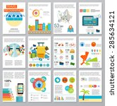 big set of infographics...   Shutterstock .eps vector #285634121