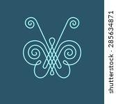 vector icon butterfly. logo... | Shutterstock .eps vector #285634871