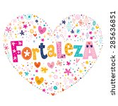fortaleza brazil heart shaped... | Shutterstock .eps vector #285636851