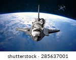 space shuttle orbiting the... | Shutterstock . vector #285637001