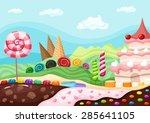 candy landscape | Shutterstock .eps vector #285641105