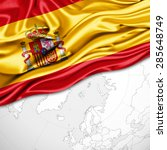 Spain  Flag Of Silk And World...