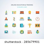 flat design modern vector... | Shutterstock .eps vector #285679901