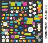 set of infographics flat design ... | Shutterstock .eps vector #285681611