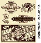 set of retro labels. vector | Shutterstock .eps vector #285685715