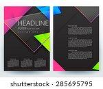 abstract vector modern flyer... | Shutterstock .eps vector #285695795