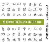 icons fitness and healthy life | Shutterstock .eps vector #285698615