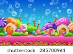 cartoon fairy tale landscape.... | Shutterstock .eps vector #285700961