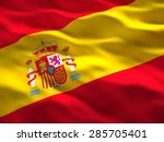 image of waved spain flag | Shutterstock . vector #285705401