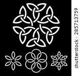 a set of flower like knots...   Shutterstock .eps vector #285713759