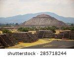 teotihuacan aztec ruins in... | Shutterstock . vector #285718244