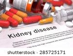 kidney disease   printed... | Shutterstock . vector #285725171