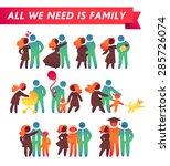 happy family icon multicolored... | Shutterstock .eps vector #285726074