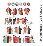 happy family icon multicolored... | Shutterstock .eps vector #285726089