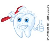 cute cartoon tooth and...   Shutterstock .eps vector #285726191