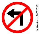 do not turn left traffic sign   Shutterstock .eps vector #285728531