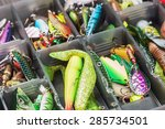 fishing lures and accessories... | Shutterstock . vector #285734501