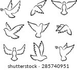 collection of dove birds logo... | Shutterstock .eps vector #285740951
