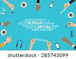 vector human capital concept... | Shutterstock .eps vector #285743099