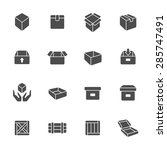 box icon set | Shutterstock .eps vector #285747491