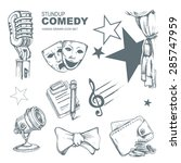 icons set for standup comedy... | Shutterstock .eps vector #285747959