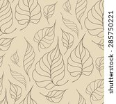 seamless pattern with leaves in ... | Shutterstock .eps vector #285750221