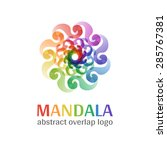 mandala sign logo  transparent... | Shutterstock .eps vector #285767381