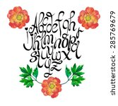 vector hand drawn alphabet with ... | Shutterstock .eps vector #285769679