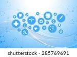 vector science medical health... | Shutterstock .eps vector #285769691