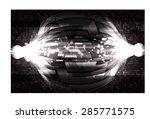 dark black color light abstract ... | Shutterstock .eps vector #285771575
