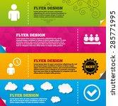 flyer brochure designs. queue... | Shutterstock .eps vector #285771995