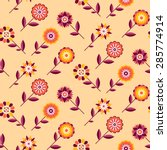 seamless retro pattern of... | Shutterstock .eps vector #285774914