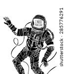space concept with astronaut... | Shutterstock .eps vector #285776291