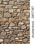 Old Cornish house stone wall. - stock photo