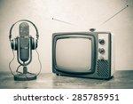 retro television  old... | Shutterstock . vector #285785951