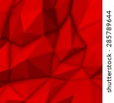 red abstract low poly ...