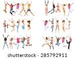 team achievement united... | Shutterstock . vector #285792911