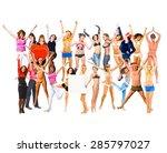 together we celebrate bright... | Shutterstock . vector #285797027