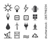 energy icon set | Shutterstock .eps vector #285798254
