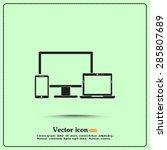 electronic devices    desktop... | Shutterstock .eps vector #285807689