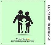 vector  child  mother  logo ... | Shutterstock .eps vector #285807755