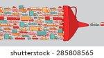 cartoon illustration of cars in ... | Shutterstock .eps vector #285808565
