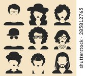 vector set of different male... | Shutterstock .eps vector #285812765
