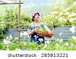 Smiling Senior Woman With Hat...