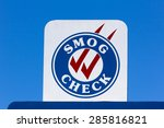 smog check sign at automotive...   Shutterstock . vector #285816821