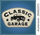 classic garage | Shutterstock .eps vector #285822371