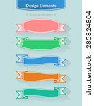 colorful vector border of... | Shutterstock .eps vector #285824804