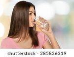 water  drinking  women. | Shutterstock . vector #285826319
