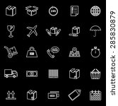 shipping line icons on black... | Shutterstock .eps vector #285830879