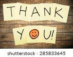 thank you  gratitude  smiley... | Shutterstock . vector #285833645